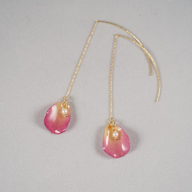 花びらアメリカンピアス(pink02)