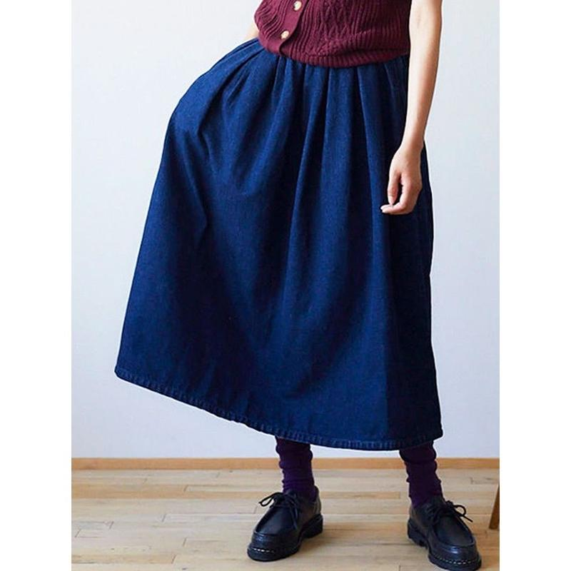 yuino Denim PLEATED Skirt
