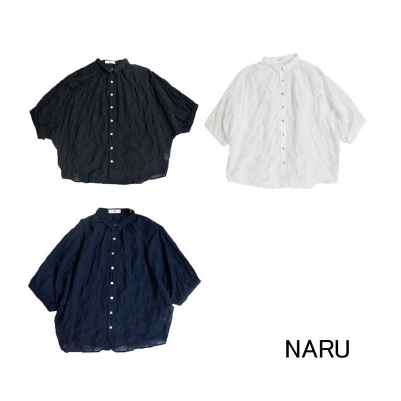 NARU(ナル)80Sローン塩縮ドルマンブラウス DOT
