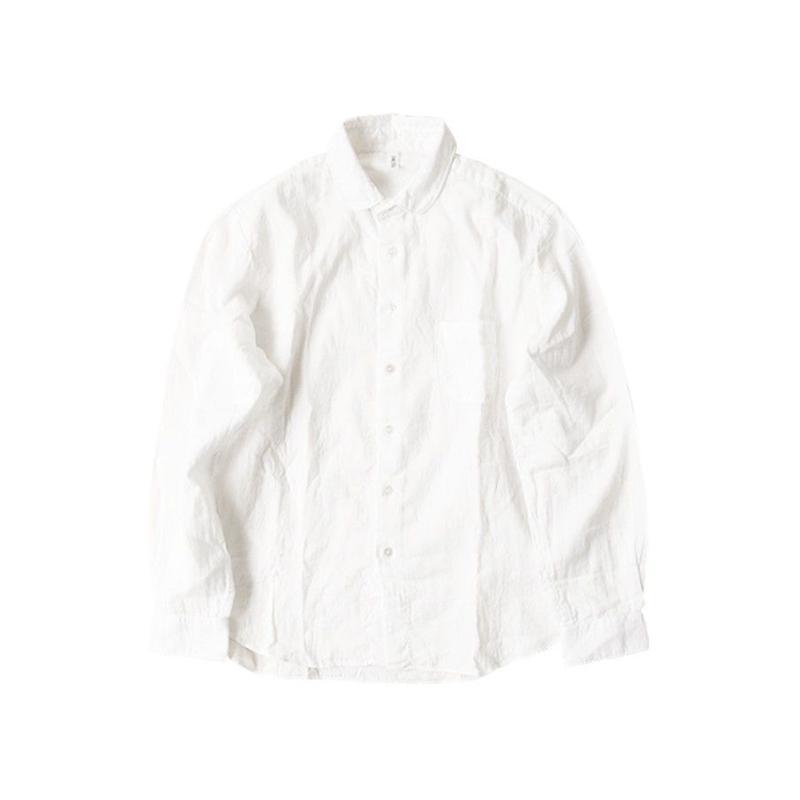 yuino ダブルガーゼシャツ UNISEX 白シャツ
