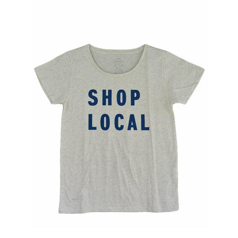 PUBLIK 半袖Tシャツ「SHOP LOCAL」レディース