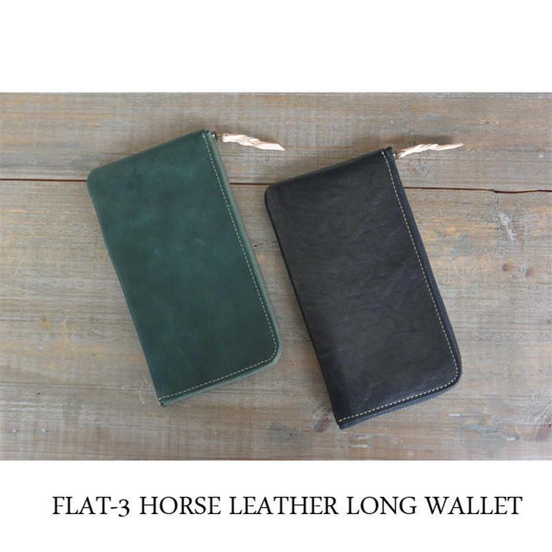 MARINEDAY FLAT-3 HORSE LEATHER 長財布