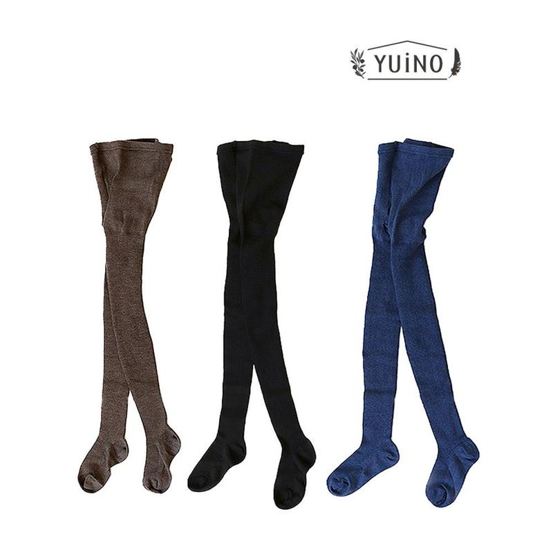 yuino Cotton&Wool リブタイツ レディース