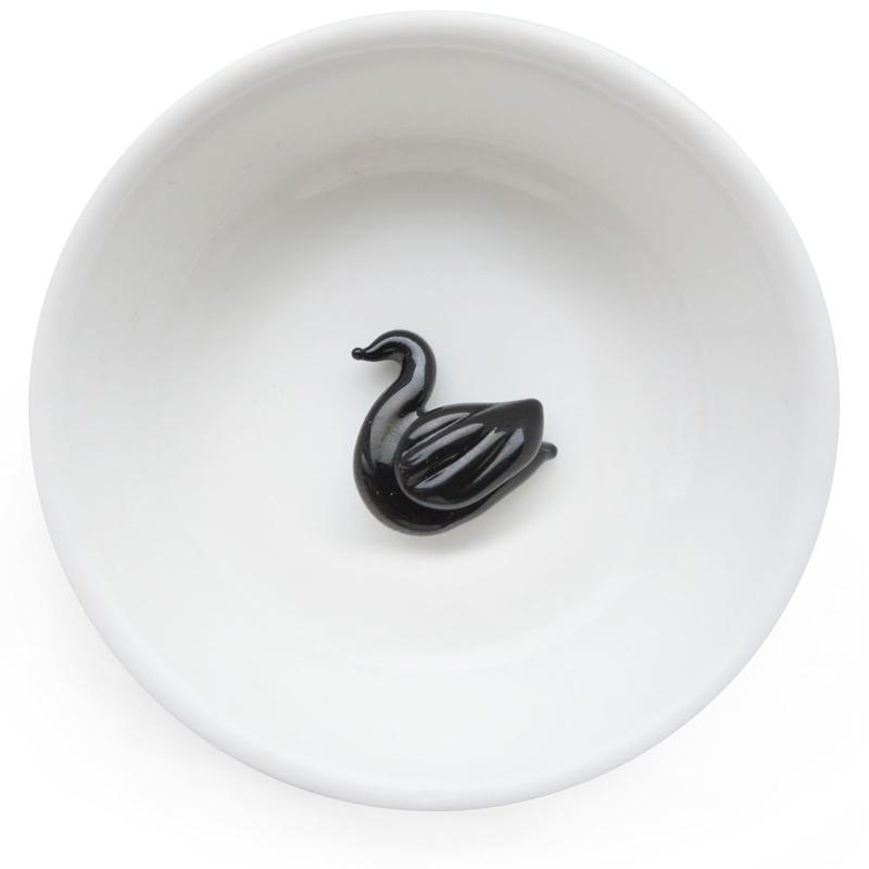 Swan bird・スワンボタン (col.インク)