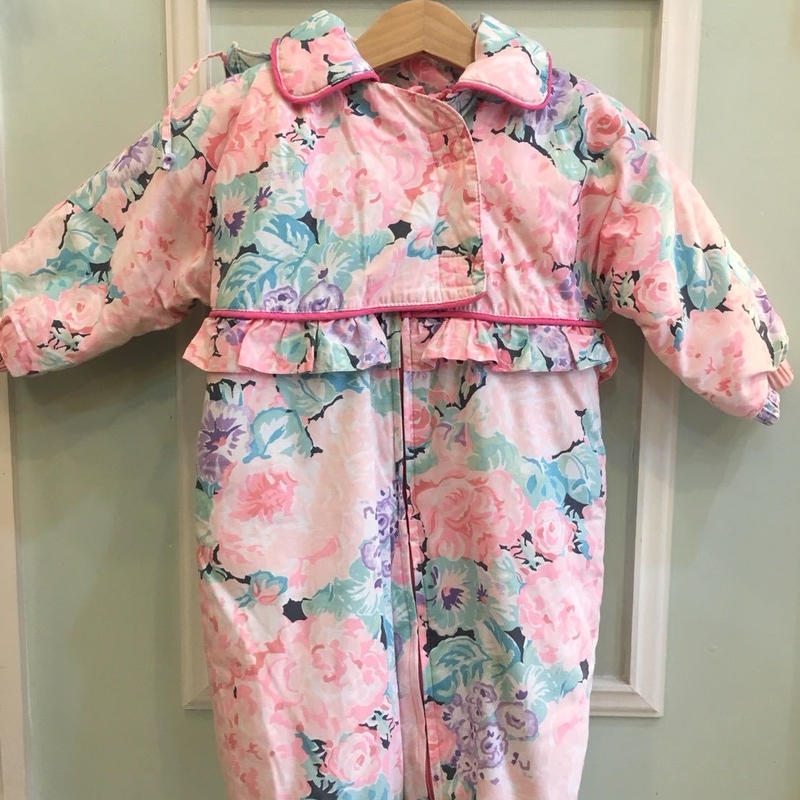 【USED】Rose flower print Outer Rompers