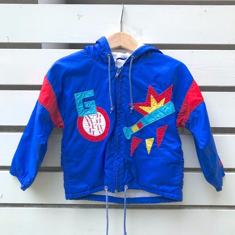 284.【USED】Colorful Baseball Nylon Jacket