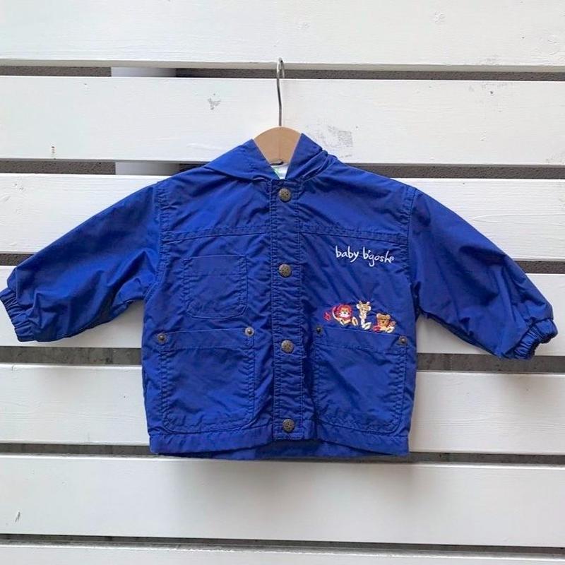 498.【USED】Animal Blue Nylon Jacket