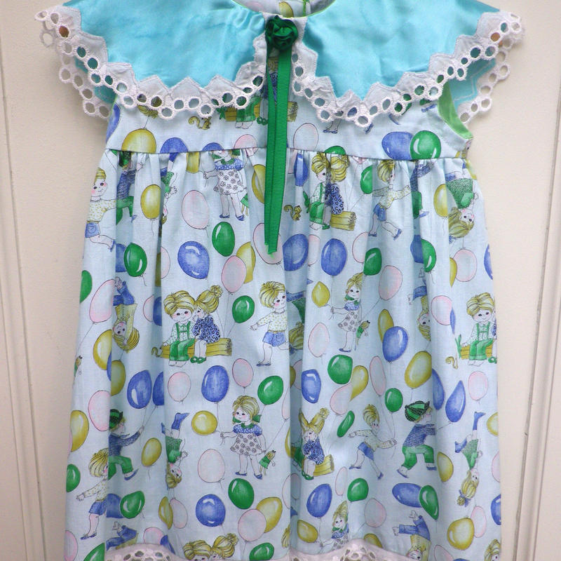 145.【USED】Formal Balloon& Kids Print Dress