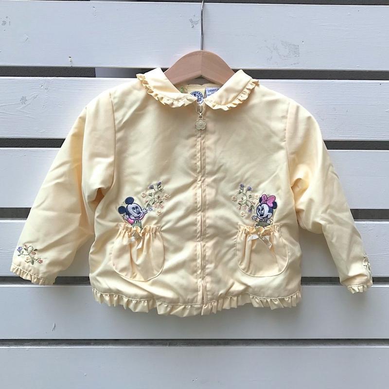 281.【USED】Mickey & Minnie Nylon Jacket