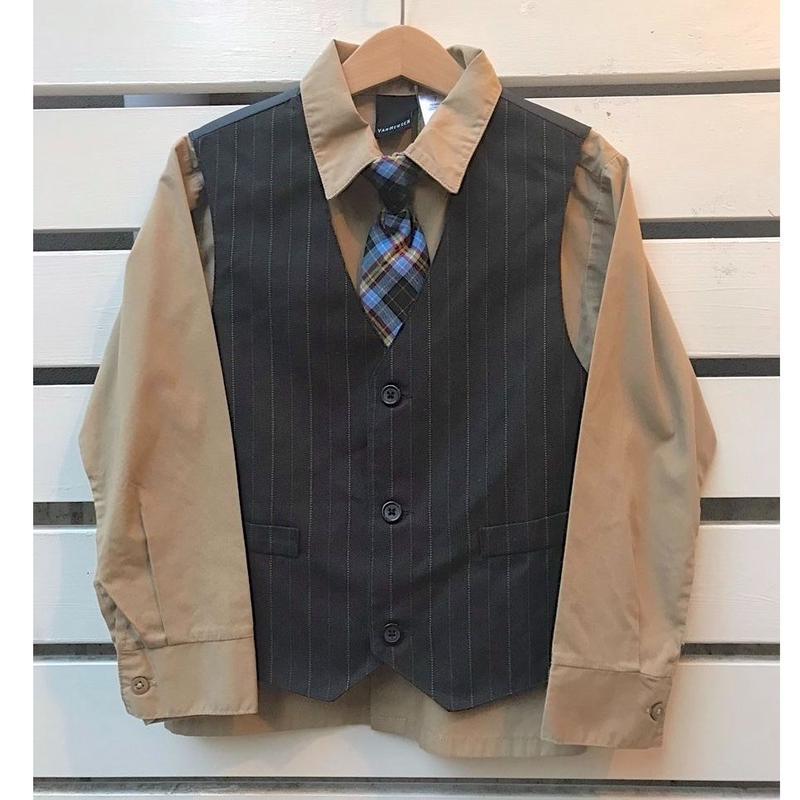 454.【USED】Shirt&Vest&Tie 3PC set