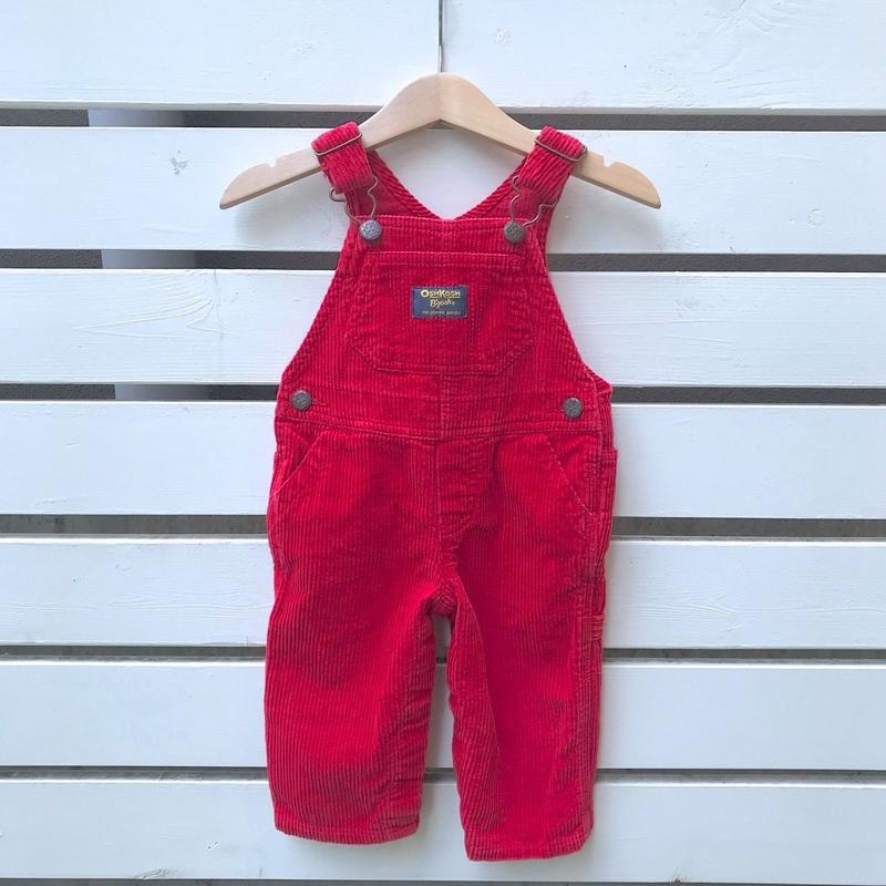 """276.【USED】""""OSHKOSH"""" Red Long overall"""