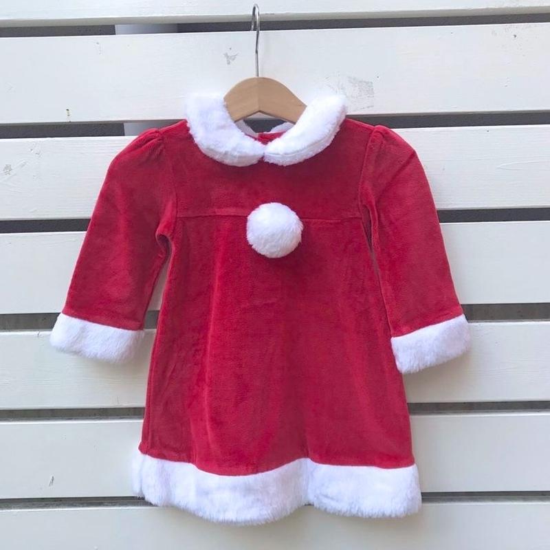 349.【USED】girls Santa Claus Dress