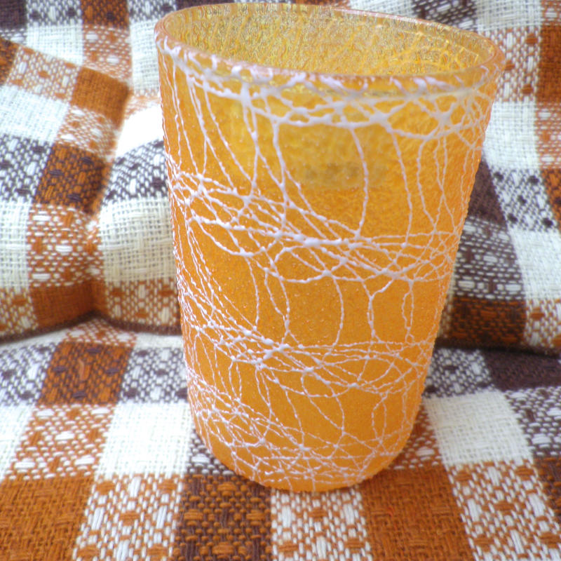 【USED】Vintage 50's Squiggle Small Orange Glass