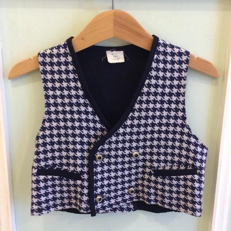 【USED】Vintage zigzag pattern Vest