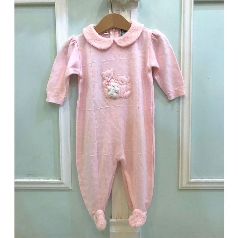 361.【USED】Bear Pink Rompers