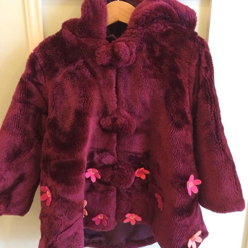110.【USED】Felt flower coat