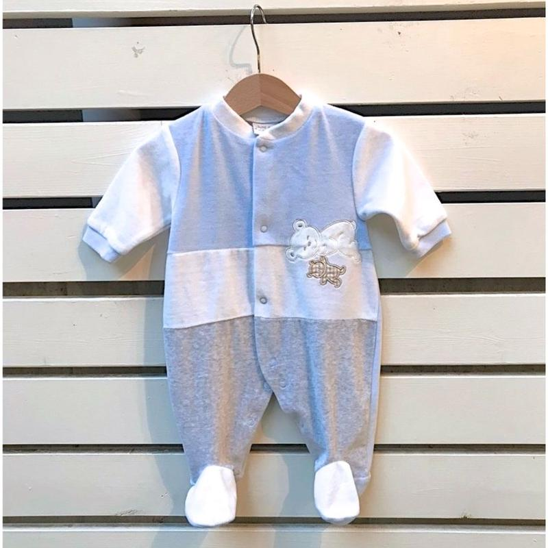 326.【USED】Blue bear Rompers