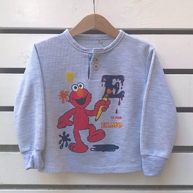 512.【USED】SESAME STREET Thermal  Long sleeves