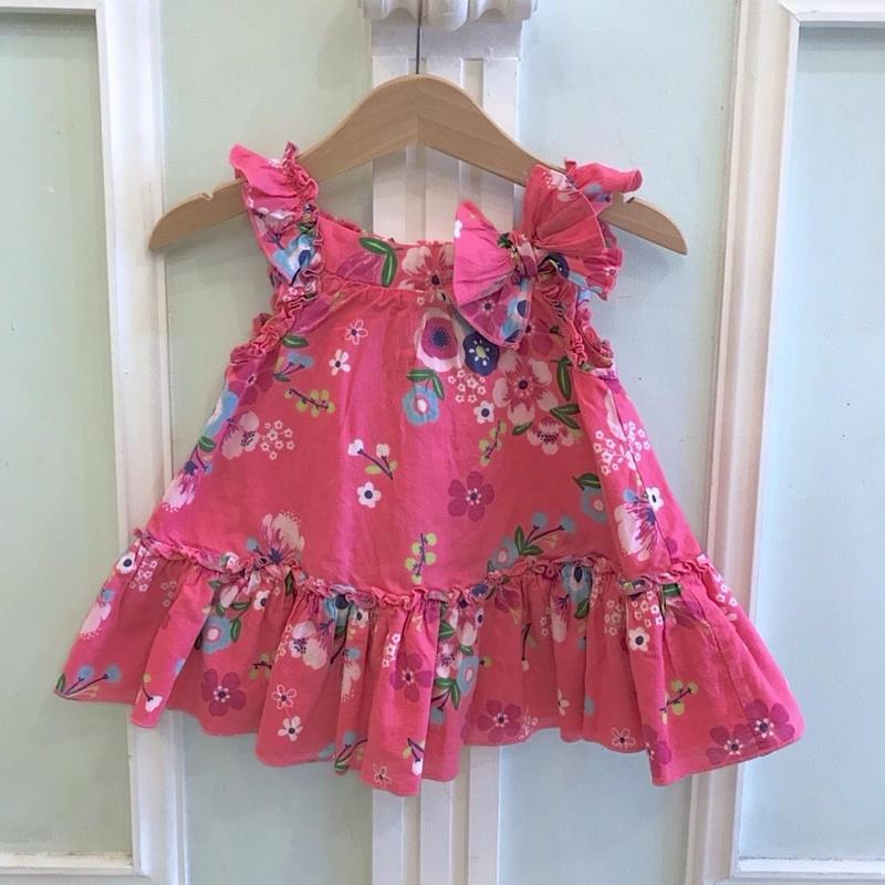 17.【USED】Flower print Pink Dress