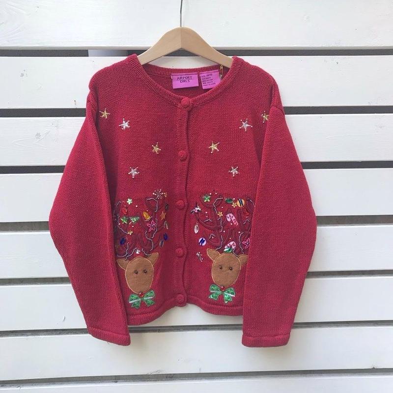 345.【USED】Reindeer Cardigan