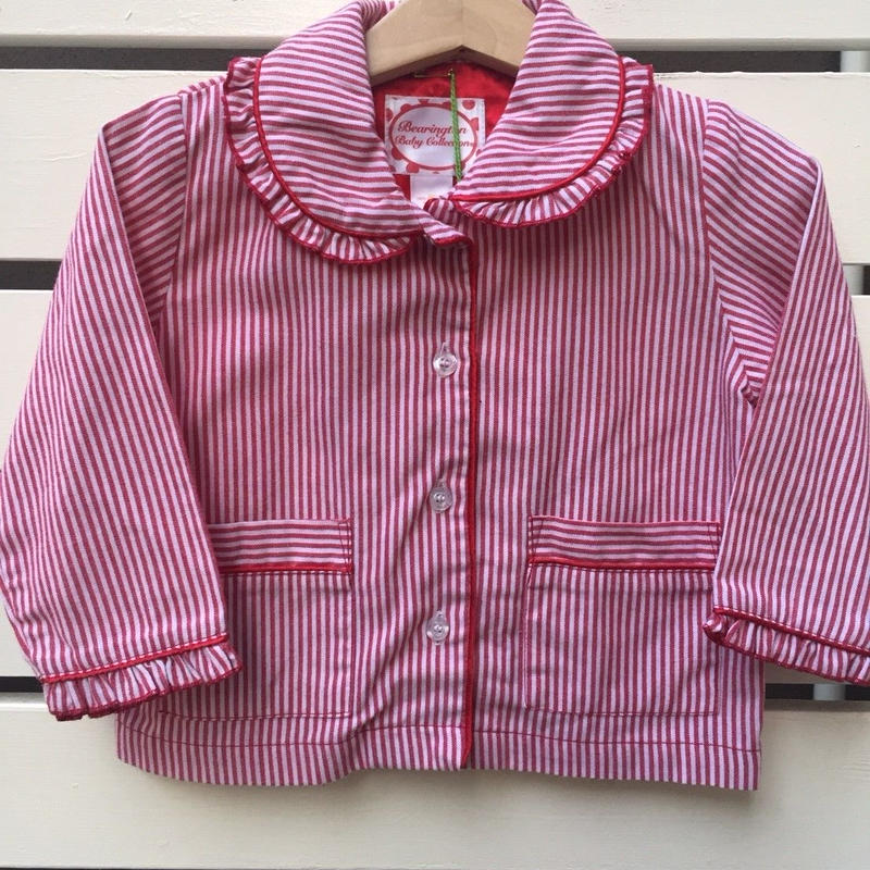 103.【USED】Red Stripe Blouse