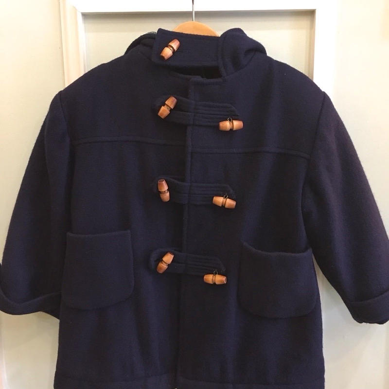 【USED】Liner checked duffle coat