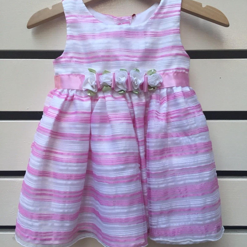 97.【USED】Pink Flower Formal Dress