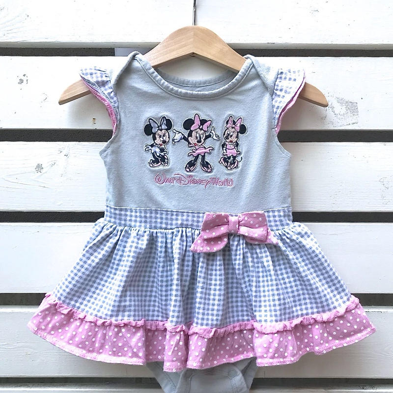 533.【USED】'Minnie mouse' Qullote Romper