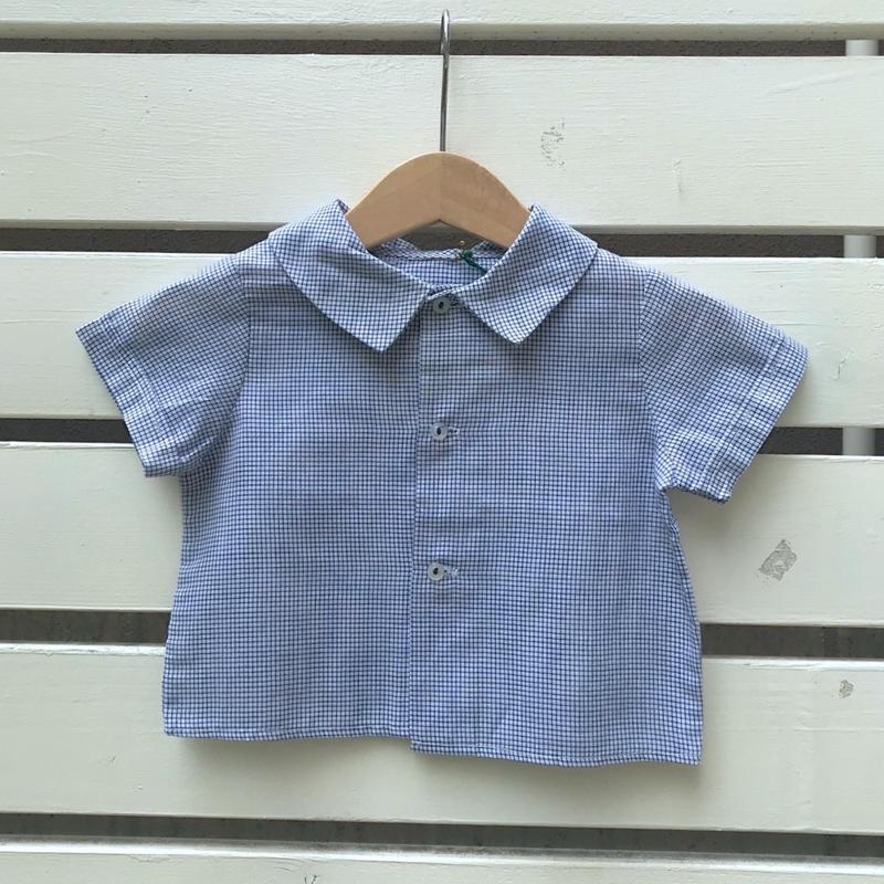 543.【USED】Navy Check  Shirts