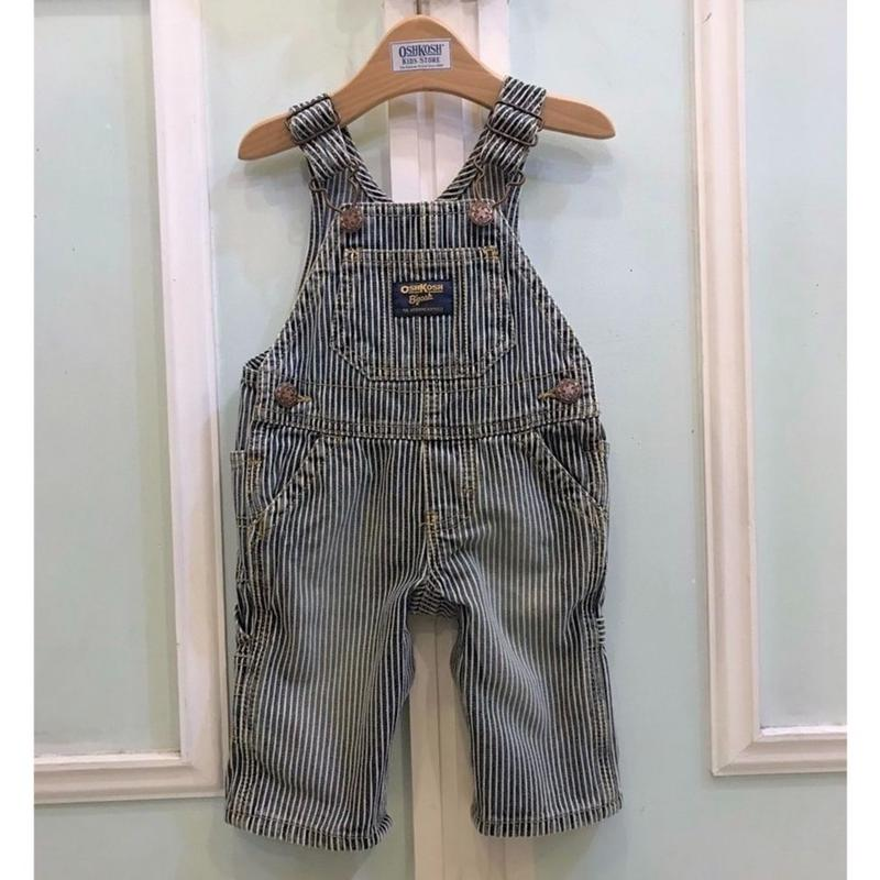 410.【USED】OSHKOSH Stripe Overall