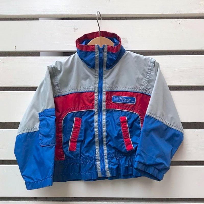 499.【USED】Red & Blue Nylon Jacket