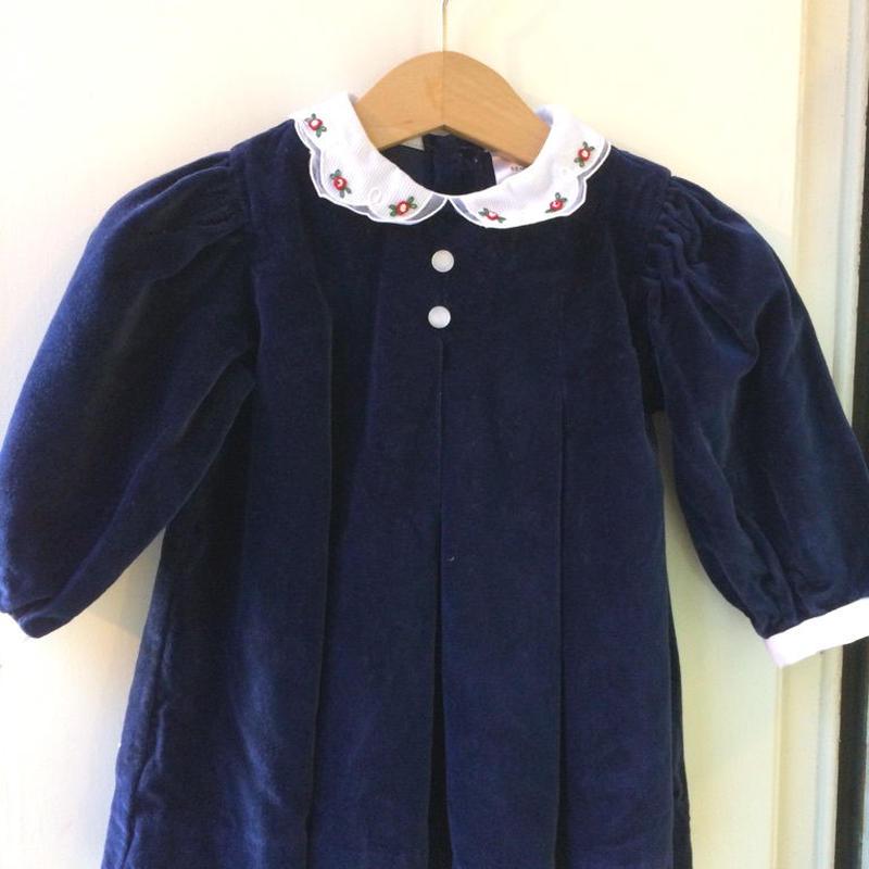 442.【USED】Navy velvet dress