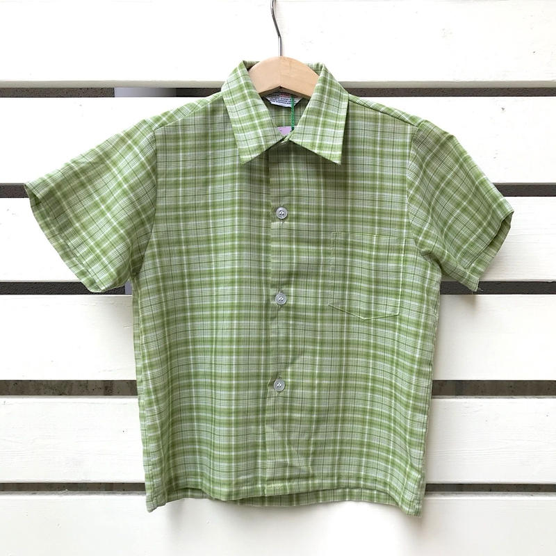 59.【USED】 60's Vintage 'sears' green shirts