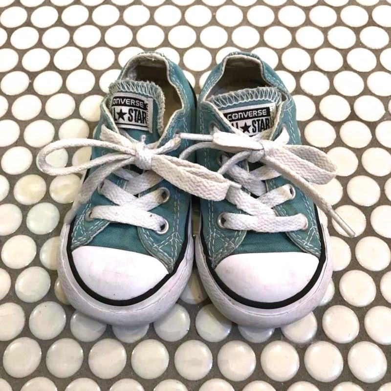 """125.【USED】""""CONVERSE"""" ALL STAR Sneaker /  light blue"""