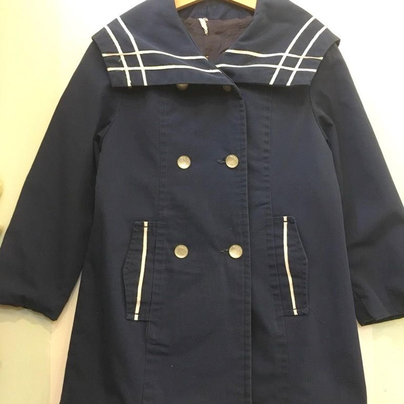 75.【USED】Vintage Sailor collar light coat