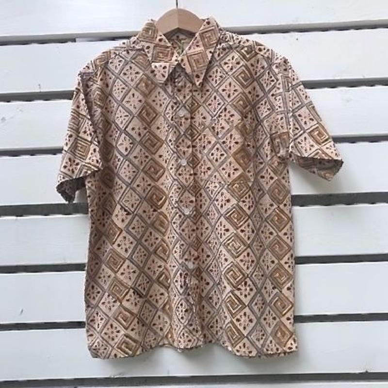 556.【USED】Brown Summer Hawaiian Shirts