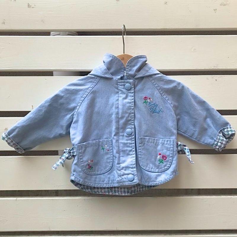 496.【USED】Ice Blue Flower Jacket