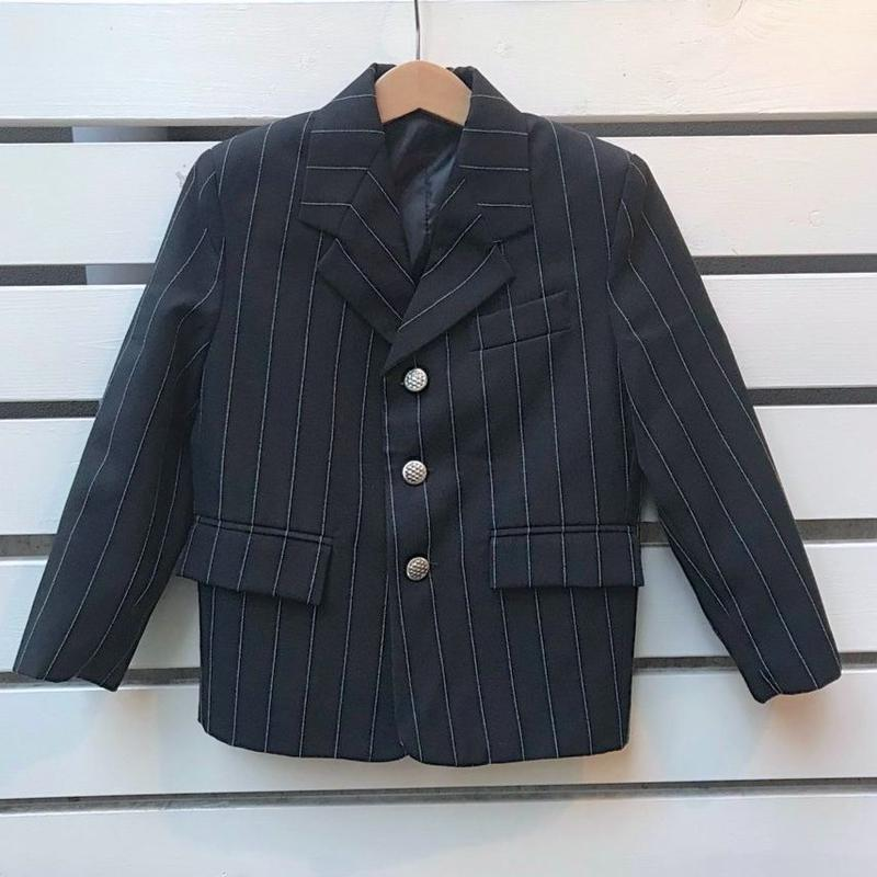 446.【USED】Black Stripe  formal jacket