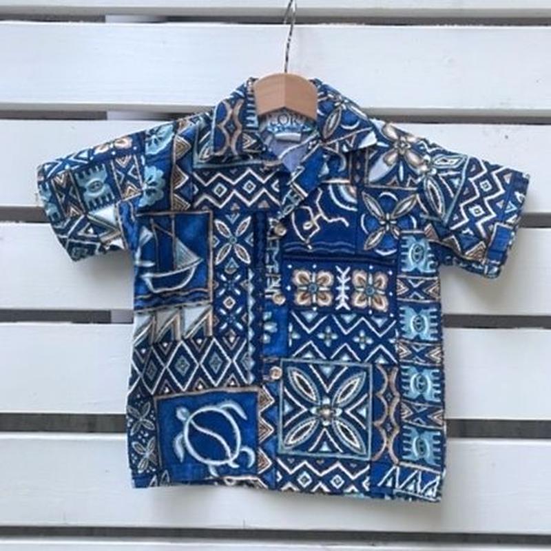 558.【USED】Blue Handle Hawaiian Shirts(made in HAWAII)