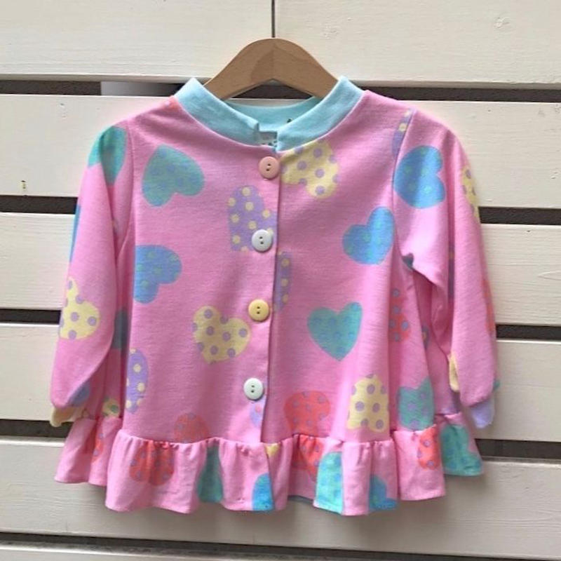488.【USED】Colorful Heart  Tops(Made in U.S.A)