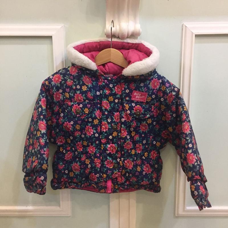"""114.【USED】""""OSHKOSH"""" flower print batting jacket"""