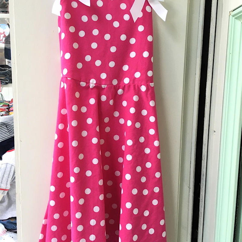 151.【USED】Dot Pink Dress