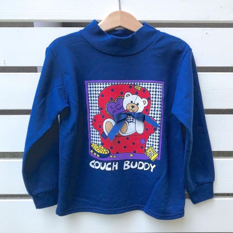 278.【USED】Teddy navy Sweat (Made in U.S.A.)