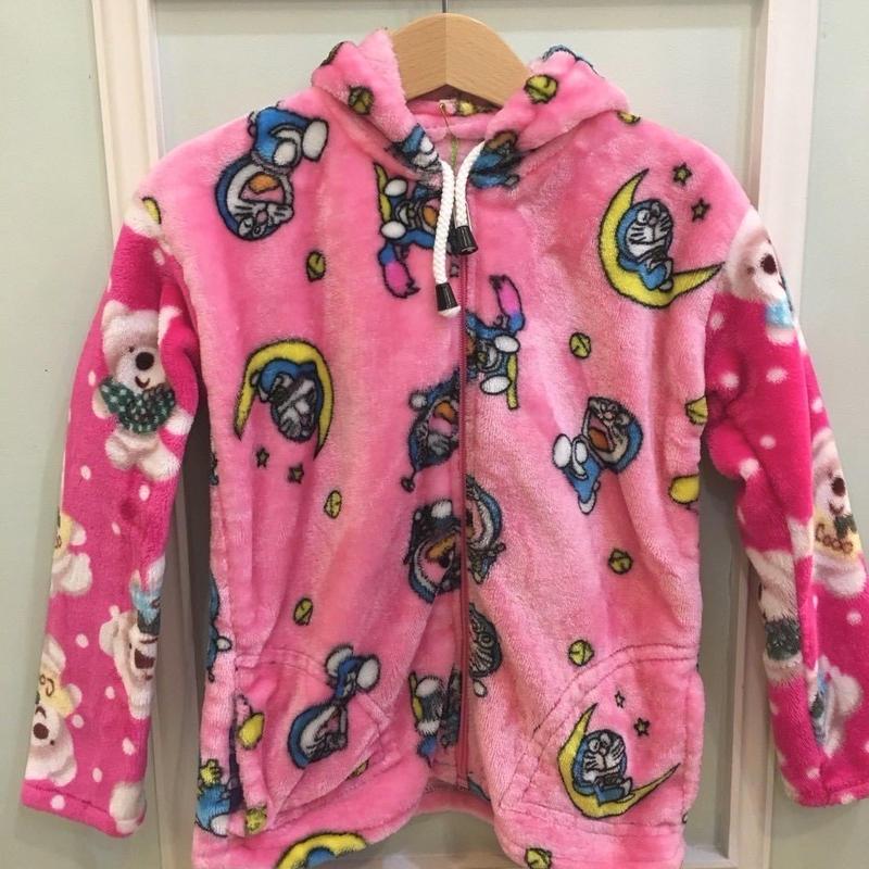 "139.【USED】""Draemon"" & Bear boa fabric Paka"