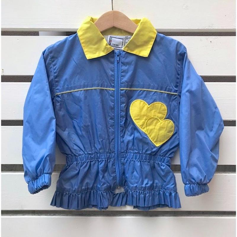 495.【USED】Blue Heart Nylon Jacket
