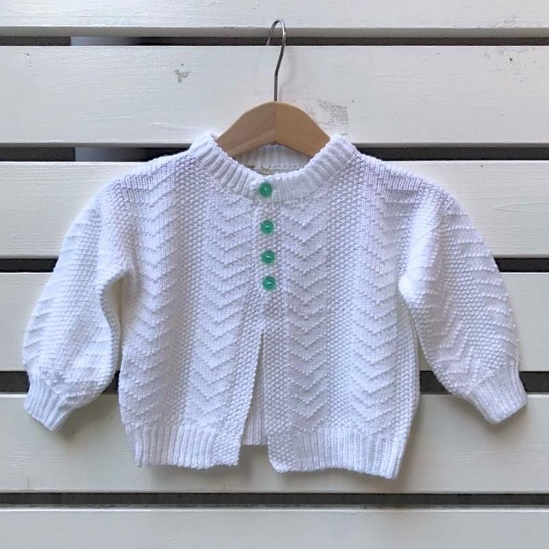 478.【USED】Green Button Knit Cardigan