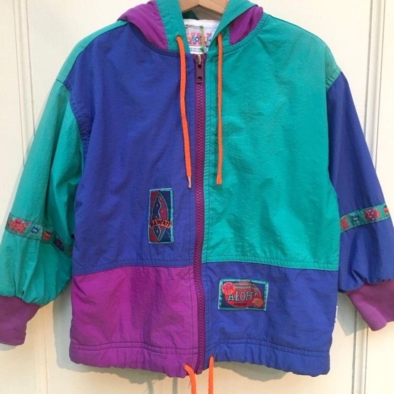 "142.【USED】""GYMBOREE"" Colorful pattern Nylon jacket"