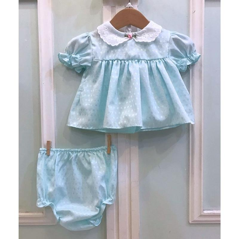 531.【USED】Mint Green Frill Set up(MADE IN U.S.A.)