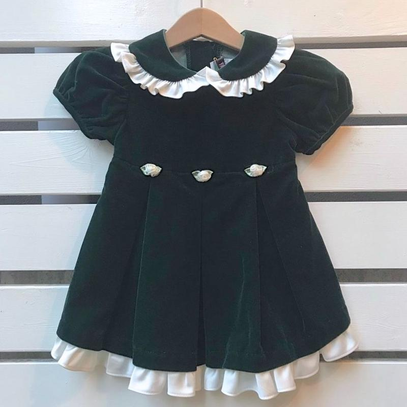 465.【USED】Dark Green  Frill Dress