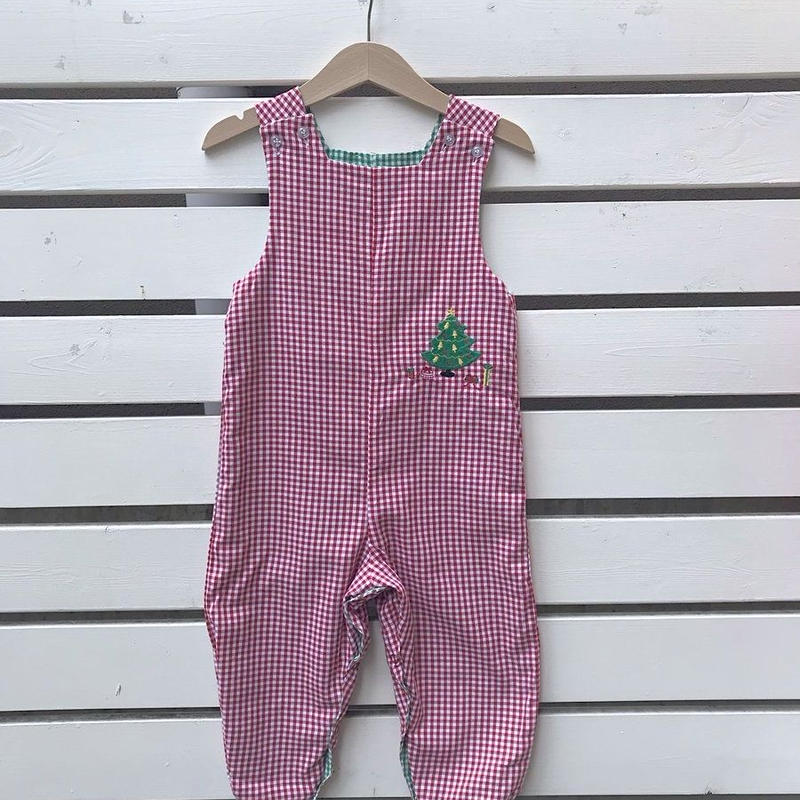 339.【USED】Deadstock Reversible gingham check cotton Overall (Made in U.S.A.)